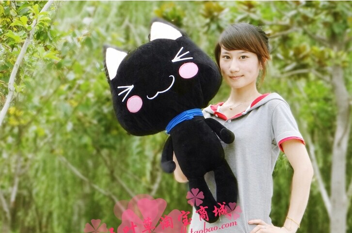 big lovely plush cat toy black doro cat toy cute stuffed cat doll birthday gift about 100cm<br><br>Aliexpress