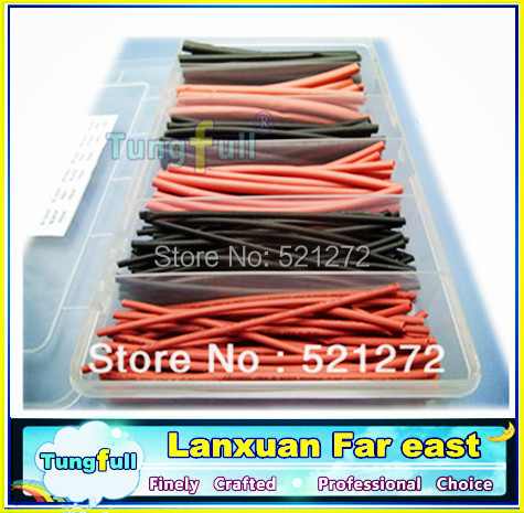 2Sets 3 Sizes Heat Shrink Tubing Kit with Red &amp; Black Two Colors ,1.5MM .3 MM.6MM 392Pcs in 2case High quality and practical set<br><br>Aliexpress