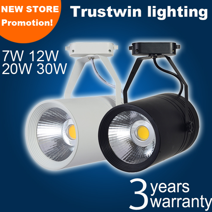 Track LED spot light white adjustable LED track spotlight ceiling LED track light 7W 10W 12W 20W 30W(China (Mainland))