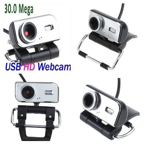 wholesale Rotate 360 degrees  USB 2.0 30.0M METAL PC CAMERA   WEBCAM HD CAMERA WEB CAM +MIC +CD FOR Computer PC Laptop BUX049