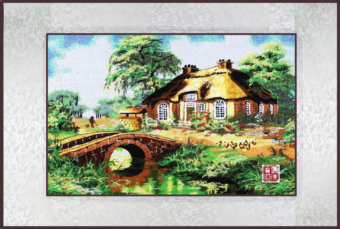 chinese national Suzhou embroidery finished product single face stereo elegant gift home decoration wool(China (Mainland))