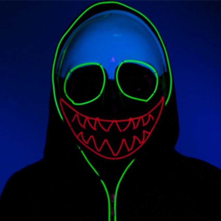 Led Clothing El Masks Halloween Gift Style Science Geek