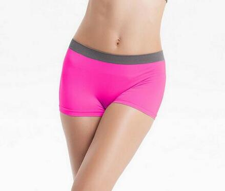 Hot sales Women's Fitness Stretch Workout One-Piece Seamless Underwear Shorts Breathable Panties(China (Mainland))