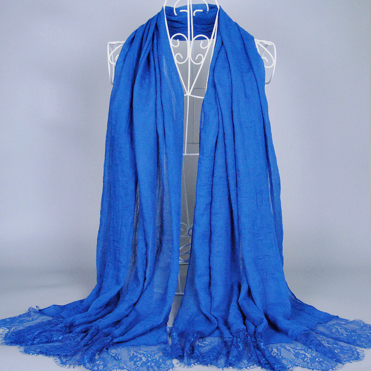 200*100 Cm Plain Lace Viscose Shawl Scarf 2016 Spring Fashion Brand Echarpes Femme Wrap Snood Capes Muslim Hijab Headwear Sjaal(China (Mainland))