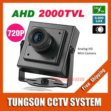 NEW Product 2000TVL AHD Security Mini 1MP 1280*720P Video Surveillance Micro CCTV Camera Free Shipping(China (Mainland))