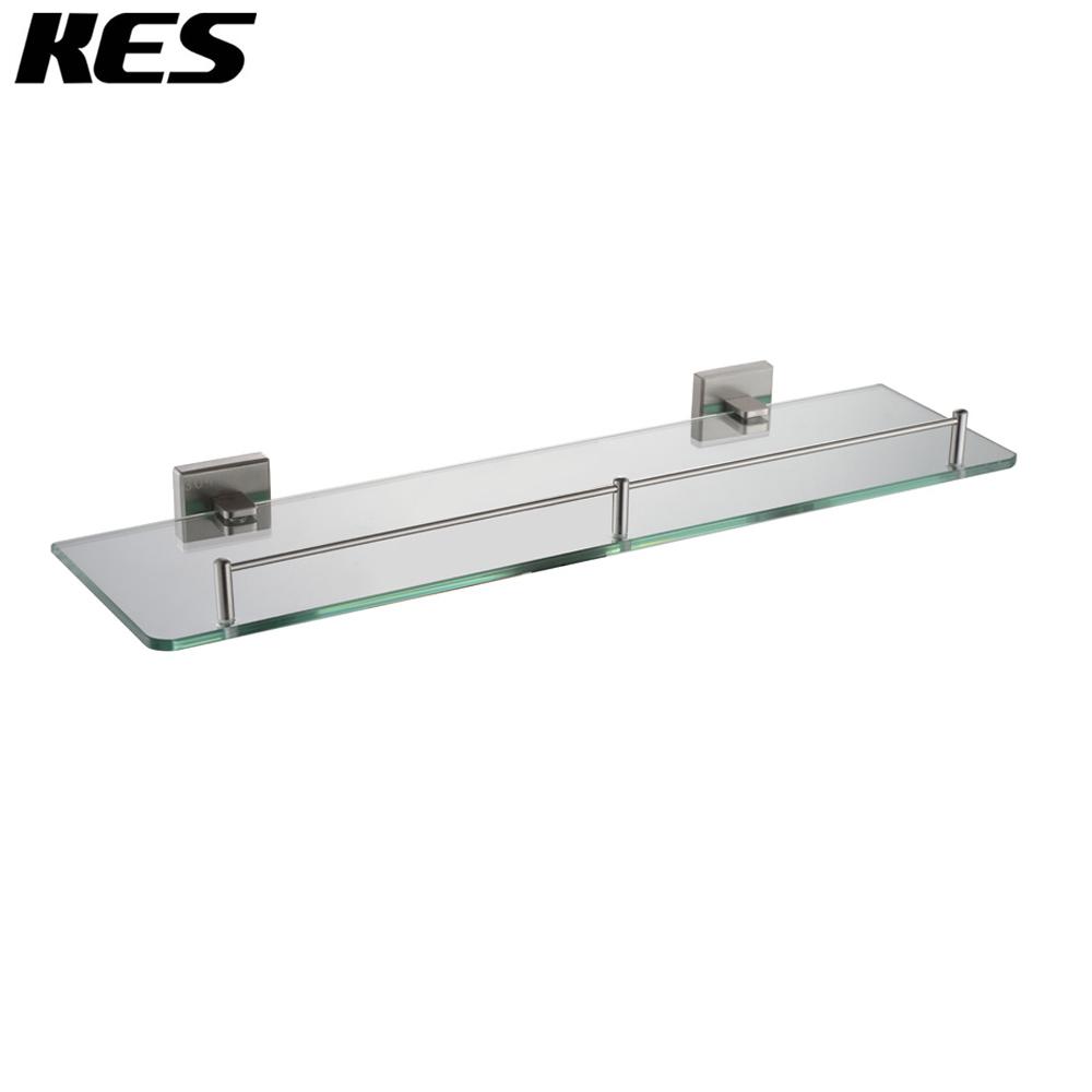 kes a2420a 2 bathroom lavatory glass shelf wall mount. Black Bedroom Furniture Sets. Home Design Ideas
