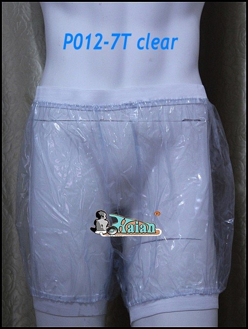 Guaranted 100% 3 pieces ADULT BABY incontinence PLASTIC PANTS Transparent P012-7T+Full Size:M/L/XL#(China (Mainland))
