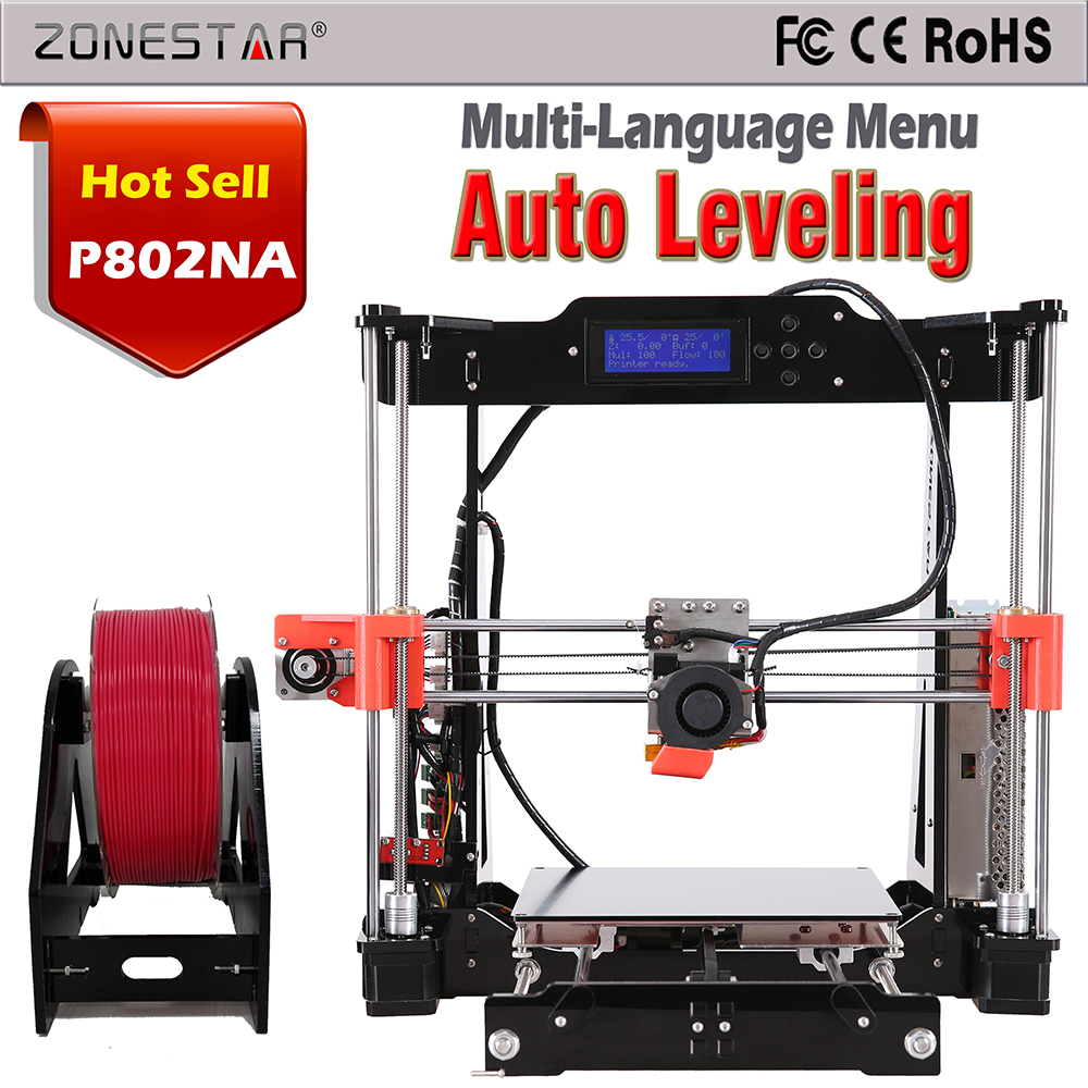 Reprap Prusa 3d printer DIY Kit Newest Upgrade P802 Optional Auto Leveling Filament 8GB SD Card