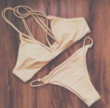 Free Shipping Swimwear Solid Bikini 2016 Sexy Beach Swimwear Women Swimsuit Fashion Bathing Suit Set maillot de bain Biquini