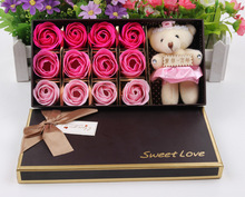 160 set Wholesale Sweet Love Artificial wedding rose flowers Valentine's Day Roses Soap flower Free shipping(China (Mainland))