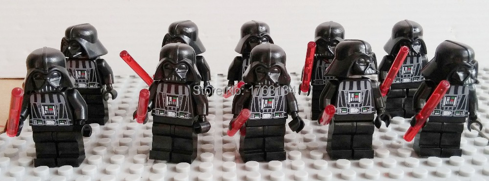 10PCS/LOT SY198 STAR WARS DARTH VADER MINIFIG WITH PLAIN GREY HEAD & LIGHTSABER NEW BUILDING BLOCK SETS TOY compatible with lego(China (Mainland))