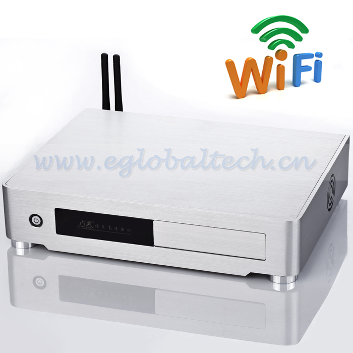 Add Wilress for Linux Micro Server with Alloy Case Citrix Client CPU Intel I3, 4G RAM and 320G HDD Mini Desktop Computer(China (Mainland))