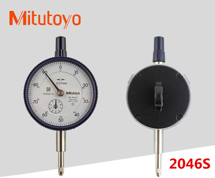 Free shipping 100% real product mitutoyo dial indicator 0-10mm/2046S precision 0.01mm gauge <br><br>Aliexpress