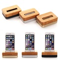 Luxury Wood Charging Dock For iPhone 6S 6 Plus 5 5S 5C 4 4S Cell Phone Original Samdi Wooden Bamboo Stand Mobile Phone Holder