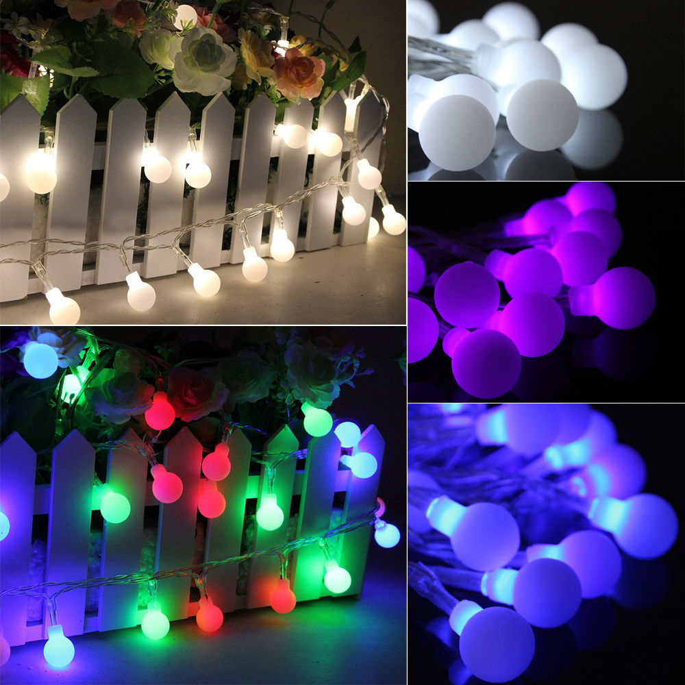 20M 200 LED Bulbs Matte Globes Round Balls Fairy String Lights Lamps Wedding Party Christmas ...