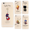 Cartoon Cool Marvel Avengers Design Case For Apple iPhone 4 4S 5 5S SE 5C 6