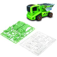 7 In 1 DIY Children Solar Power Electronic Deformed Assembling Robot Car Rechargeable Intelligence Educational Truck Toy(China (Mainland))