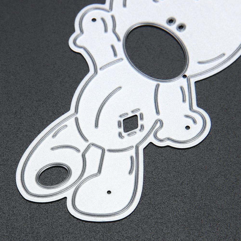 DIY Bear Embossed Metal Die Cutting Scrapbooking Template Stencils Decorative Cards Paper Cutting Dies Cute Craft Dies