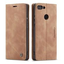Funda para Huawei P Smart Case Huawei Honor 9 Lite funda abatible de cuero de lujo para Huawei P funda inteligente Enjoy 7 S 7 S(China)