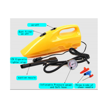 Mini Car Vacuum  cleaner air compressor in one multi-function 12V cigarette lighter 120W Dry and wet dual for car ball board(China (Mainland))