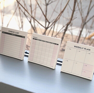 Desk Memo Pad Check List Monthly Weekly Planner Schedule To Do List Note Pad(China (Mainland))