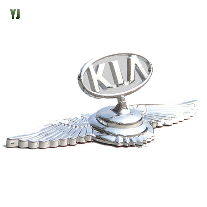 Car Accessories KIA Eagle Shape 3D Three-Dimensional Mark Ferretti Wah Trinidad and ABS Metal Material Car Sticker CT2325(China (Mainland))