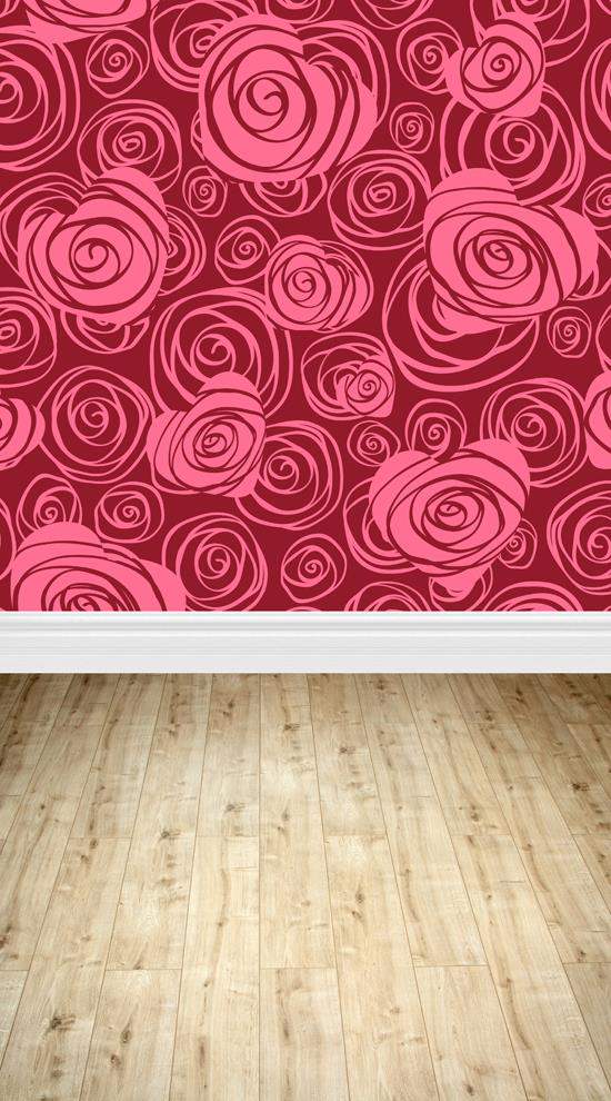 5X10ft Art fabric photo studio newborn backdrop photography background rose wallpaper backdrop D-334(China (Mainland))