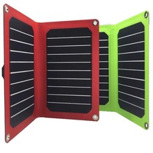 Micro USB Port Solar Charger PowerGreen 14 Watts ETFE Foldable Solar Power Bank SUNPOWER Panel for Xiaomi for Blackberry Phone