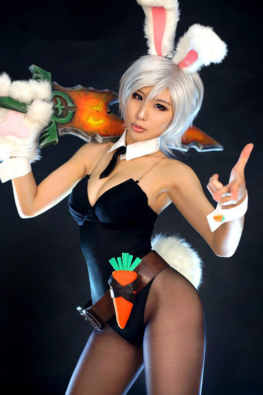 New LOL League exile Blade Playboy Bunny Rui Wen cosplay costume Sexy women's clothing(China (Mainland))