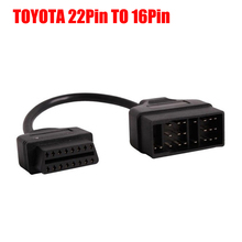 Toyota 22 Pin To 16 Pin Female OBD 2 obdii obd2 Cable Connector Adapter Cable Car Diagnostic Tool(China (Mainland))