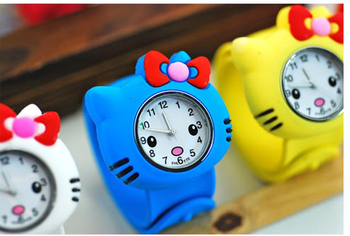 Beautiful Cute MC Colorful Wrist Watch Indicate Time Quartz Dial Silicone Band