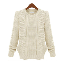 4 Colors To Choose Women Knit Jumper Casual Loose Long Sleeve Knitted Pullover Sweater For Women Lady Tops Outerwear #78565(China (Mainland))