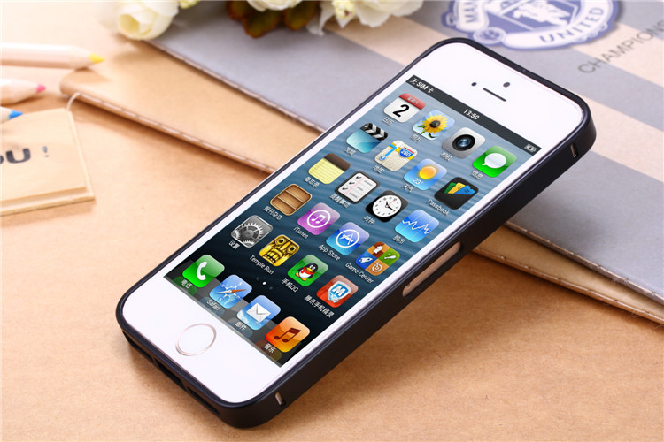 Special for iPhone5 5S 1pcs Metal Phone cover case ultra-thin bumper Ultra Thin Aluminum Metal Bumper Frame Case(China (Mainland))