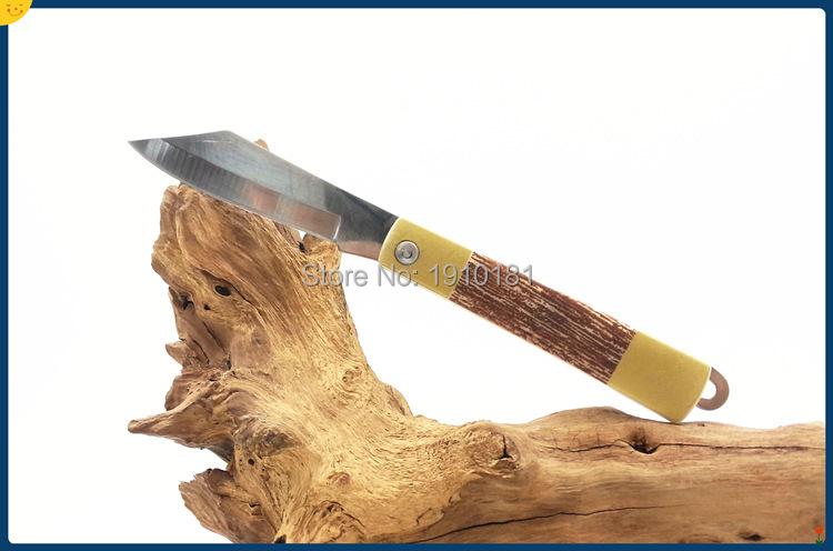FD-026 folding pocket knife wood handle utility fruit knife edc free shiping