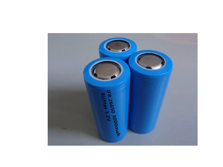 Richter Brand IFR Rechargeable Battery 26650 3000mah 3 2V flat head for Consumer Electronics