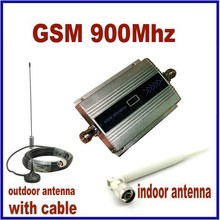 100% Top Quality High Gain GSM 900Mhz Mini Mobile Cell Phone Signal Booster Amplifier RF Repeater Kit +10m cable +Sucker Antenna
