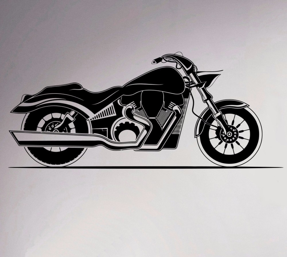 Motorcycle Wall Vinyl Decal Motorbike Sticker Removable Garage Decor Sport Club Home Interior Bedroom Murals(China (Mainland))