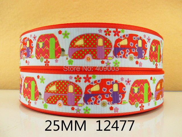 50Y12477 kerryribbon freeshipping 1'' printed Grosgrain ribbon Clothing accessories Bow Material Gift Wrapping(China (Mainland))