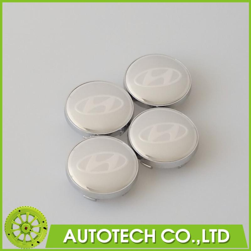 20Pcs/lot 60mm Silver Hyundai Sticker Wheel Center Caps Hyundai Emblem Badge Wheels Cover Hub Cap Decal(China (Mainland))