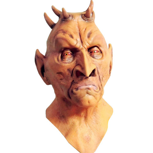 Scary Six Horned Monster Mask,Devil Latex Masks for Halloween,The Masquerade Party Silicone Rubber Birthday Face Masks(China (Mainland))