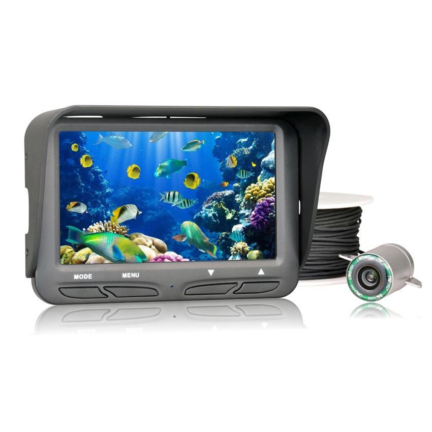 720P Underwater Ice Video Fishing Camera 4.3 inch LCD Monitor 6 LED Night Vision Camera 30m Cable Visual Fish Finder Waterproof(China (Mainland))