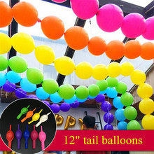 Buy 10pcs/lot 12inch Thicken Needle Tail Balloons Inflatable Latex Balloon Wedding Birthday Party Globos Decoration Air Balloons for $1.49 in AliExpress store