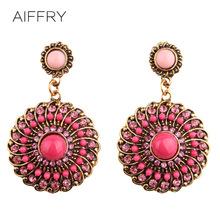 Brincos de prata women bohemian earrings round drop earrings wholesale 2014 pendientes fashion exaggerated earrings E1053(China (Mainland))