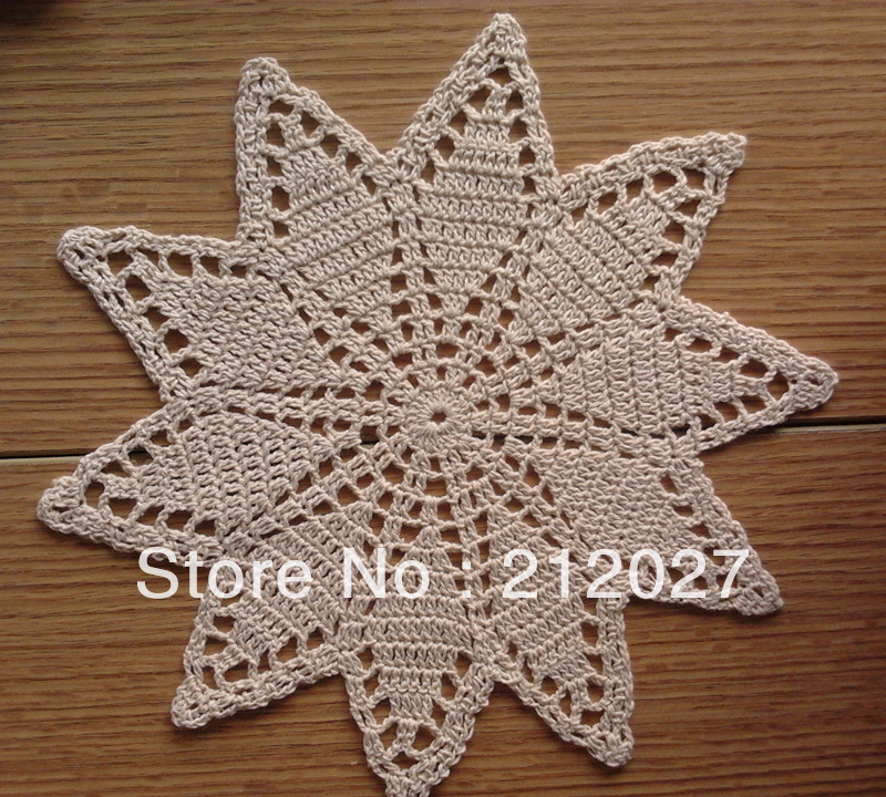 """Free shipping wholesale 100% cotton hand made Crochet doilies/cup mat, cup pad,coaster 27CM/10.5"""" 12 PCS/LOT(China (Mainland))"""