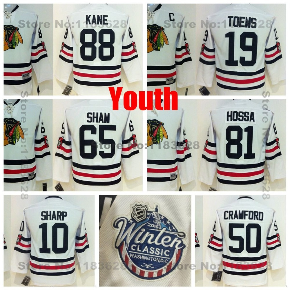 Youth Chicago Blackhawks Jersey 2015 Winter Classic Patrick Kane,Crawford,Marian Hossa,Andrew Shaw,Sharp,Janathan Toews Jerseys