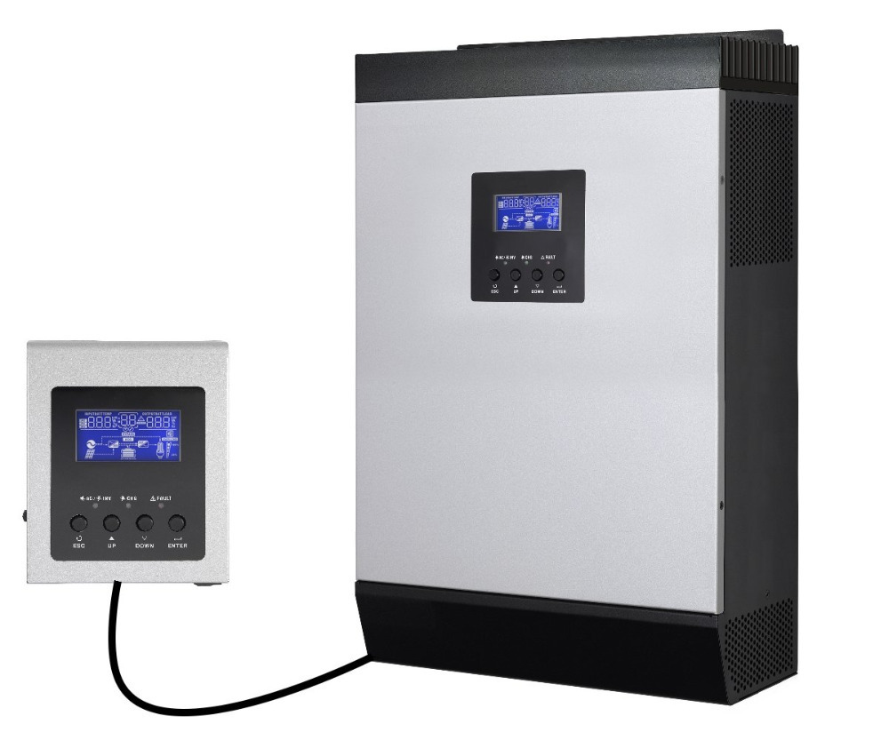 5KVA 4000w 48v 230v off grid solar power inverter mppt solar inverter 60A built in with Remote controller(Taiwan)