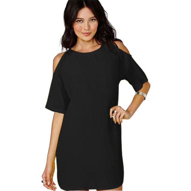 Летнее платье 2015 Новый стиль выдалбливают без бретелек шифон короткие рукава Большой размер конфеты цвет мини-платья vestidos LX001