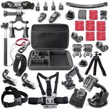 Gopro Accessories Acessorios For Sj5000 Go pro Hero 1 2 3 4 HDR-AS15/AS20/AS30V/AS100V/i Sony FDR-X1000V/W 4K Action Camera