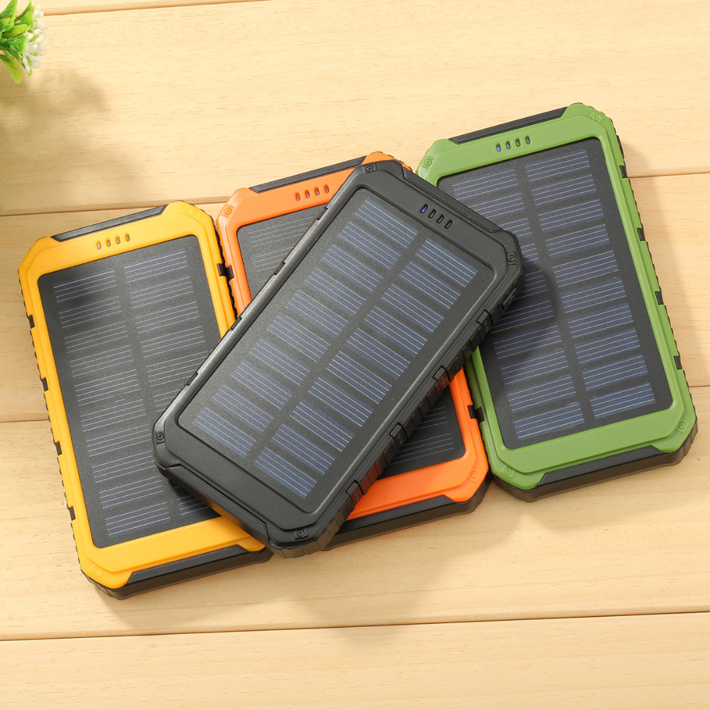 bateria externa Power Bank 6000mAh Portable Solar Powerbank Extreme Mobile Phone Battery Charger Pack Dual USB LED For Cellphone
