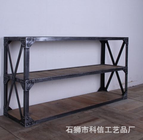 American country pine bookcase shelves vintage wall wood clapboard Shelf Coffee Table TV lounge tables(China (Mainland))